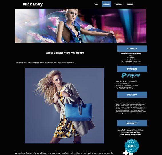 szablony ebay moda odzież dodatki szablon aukcji ebay
