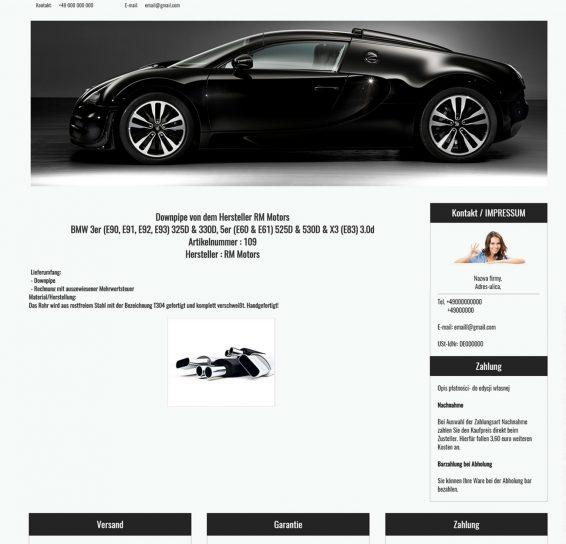 szablon ebay części samochodowe