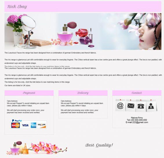 szablon na ebay kosmetyki