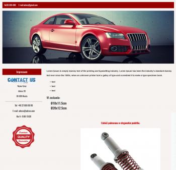 szablon na ebay motoryzacja części samochodowe szablon aukcji